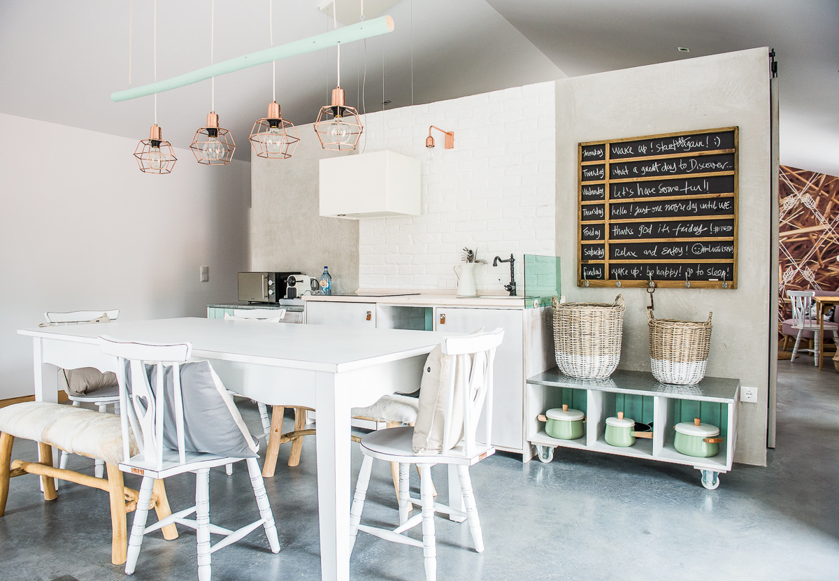mint green dining chairs