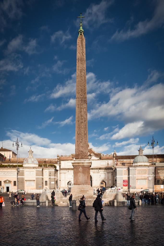 Rome Piazza Obelisk