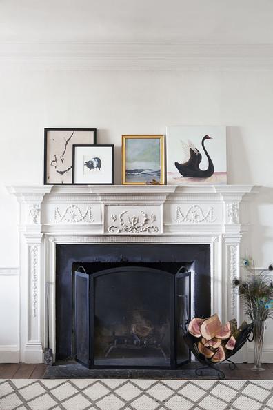 Artwork on mantelpiece