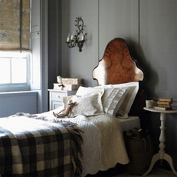 plaid blanket bedroom decor