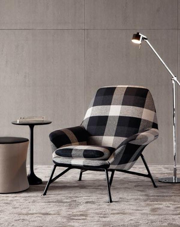 modern checkered chair