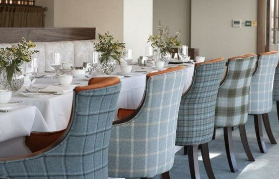 checkered dining room chairs