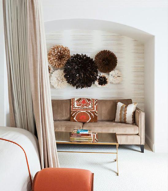 Tan sofa bedroom decor