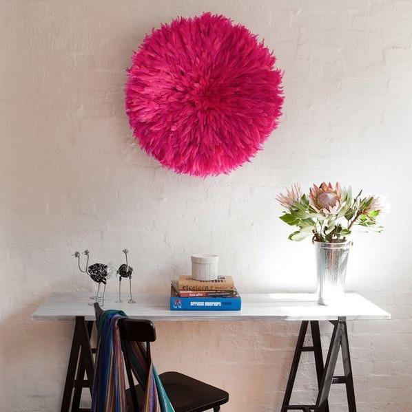pink juju hat wall art