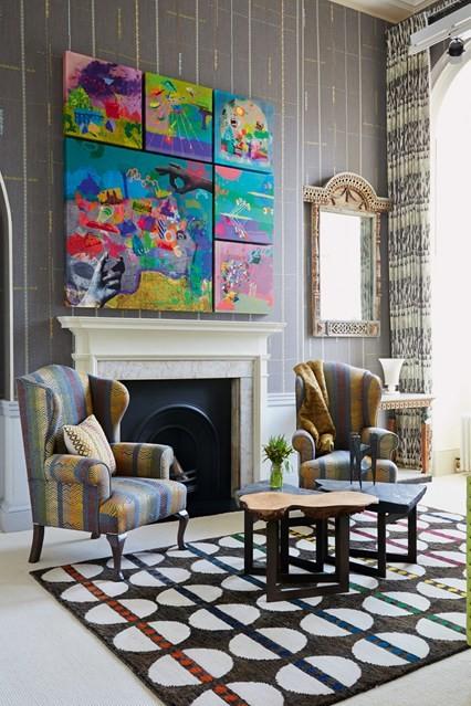 modern carpet pattern living room