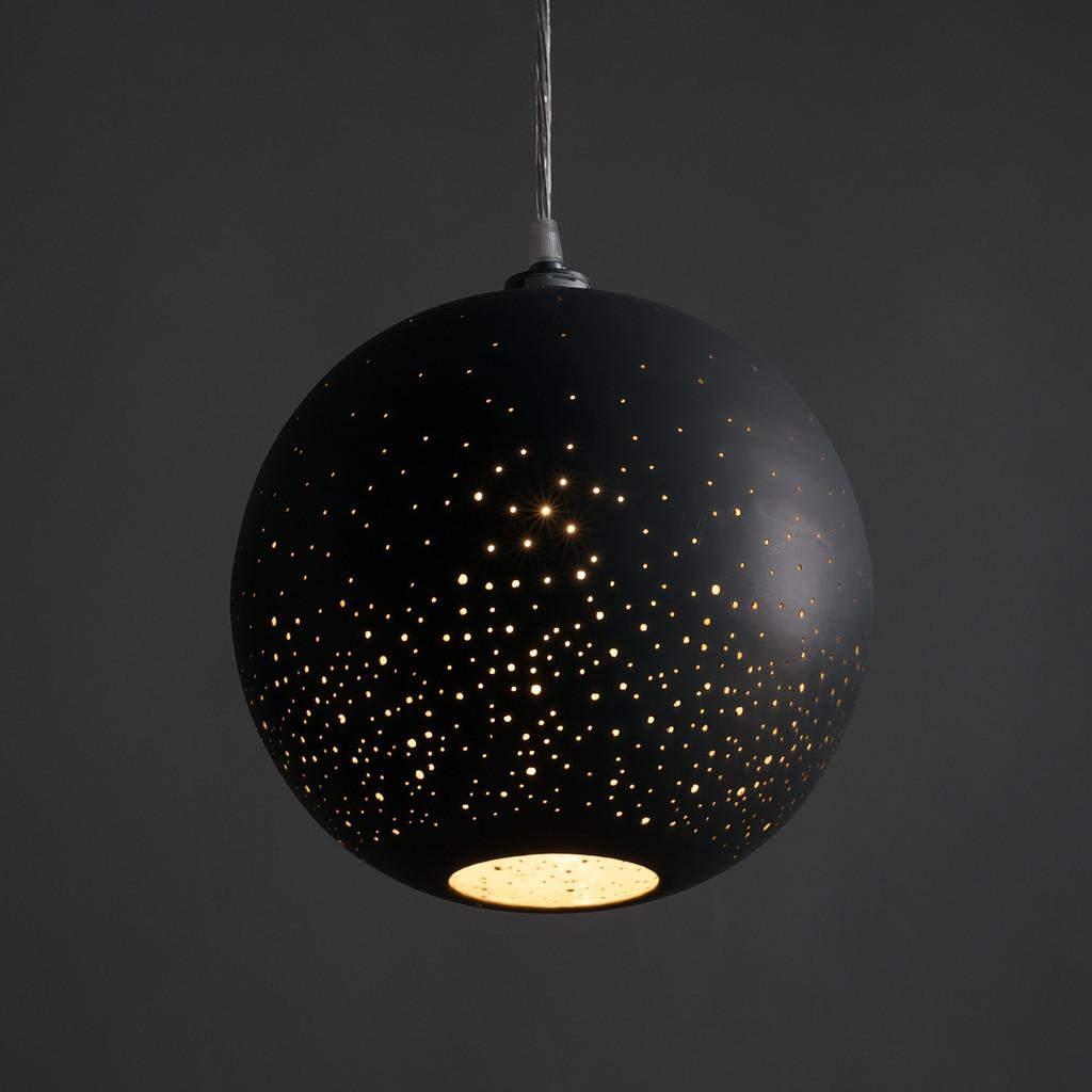 black round pendant lamp