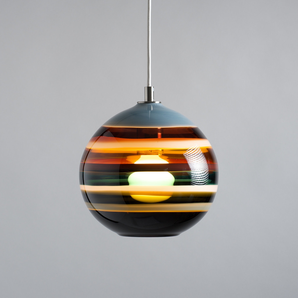 colorful round pendant lamp