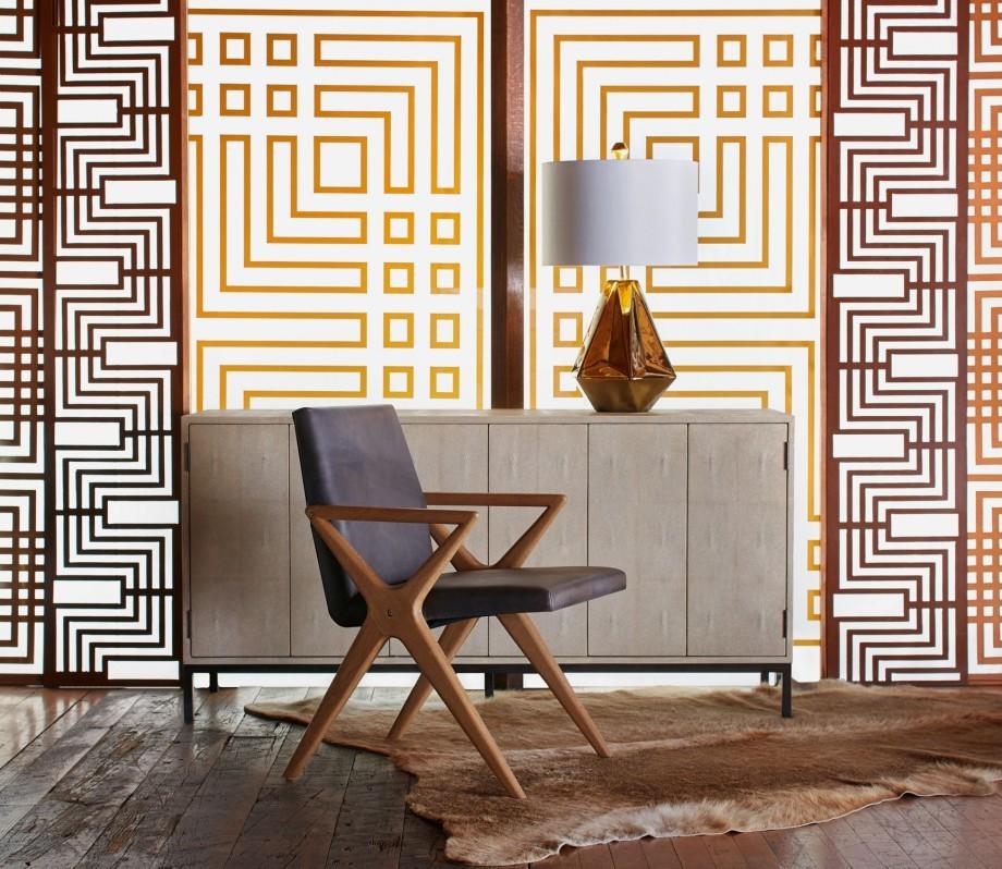 modern geometric wall divider