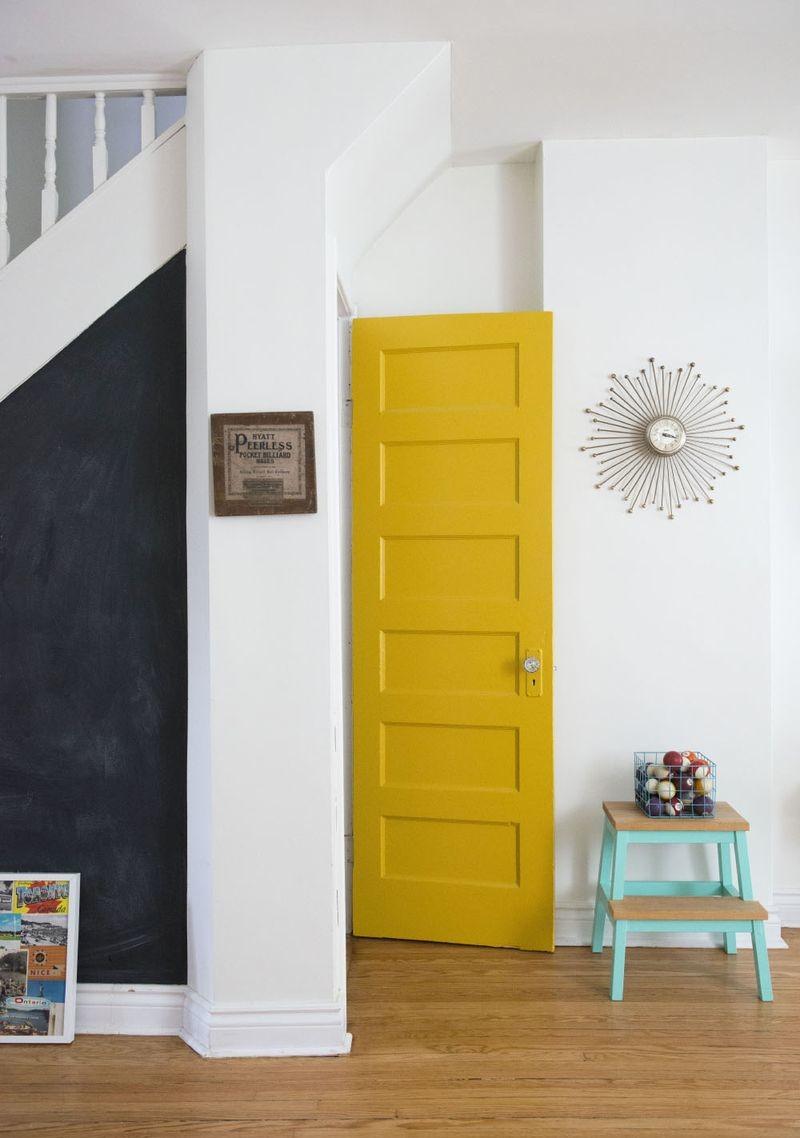 bright yellow door
