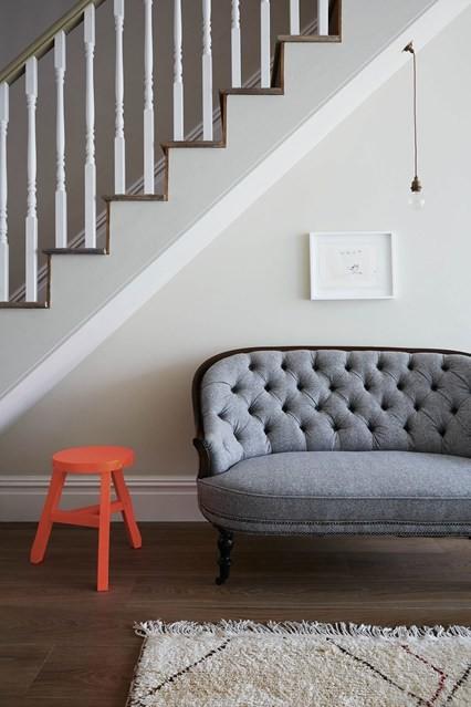 Coral stool hallway design