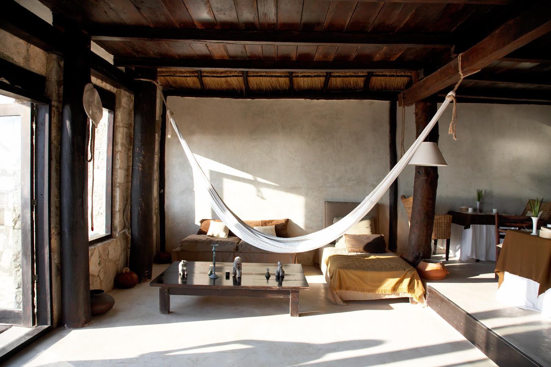 Indoor hammock beach decor