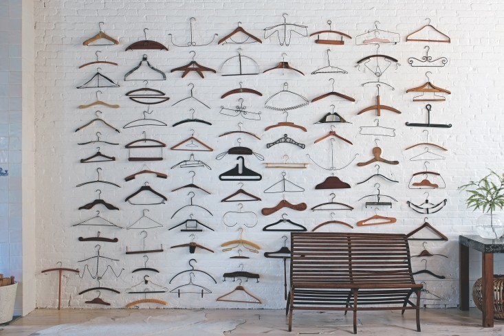 Hangers collection wall display