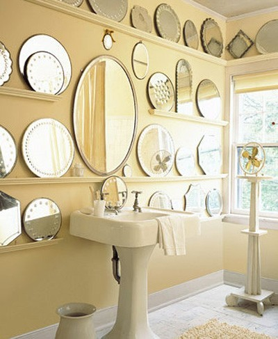 round mirror collection bathroom