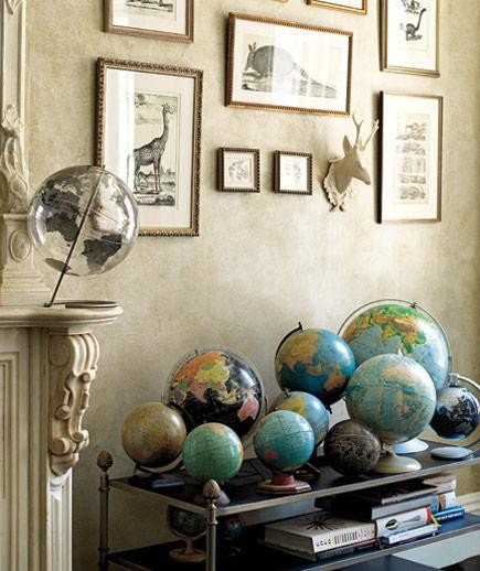 Globe collection display