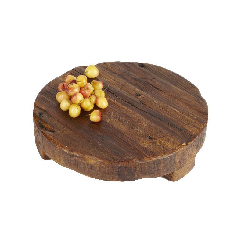 round wooden coaster