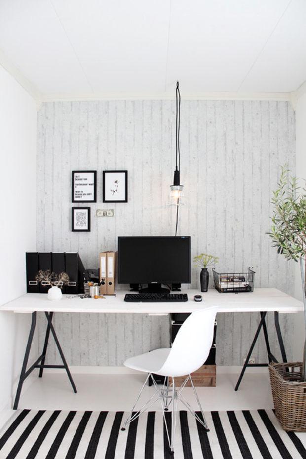 striped carpet small office design