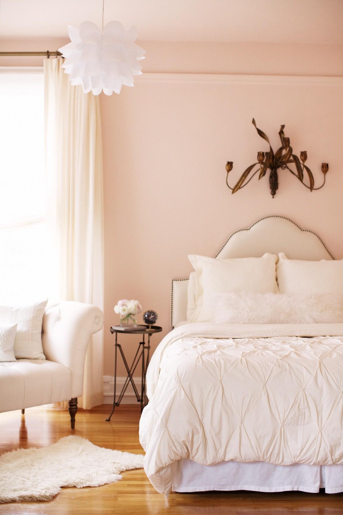 feminine interior design bedroom