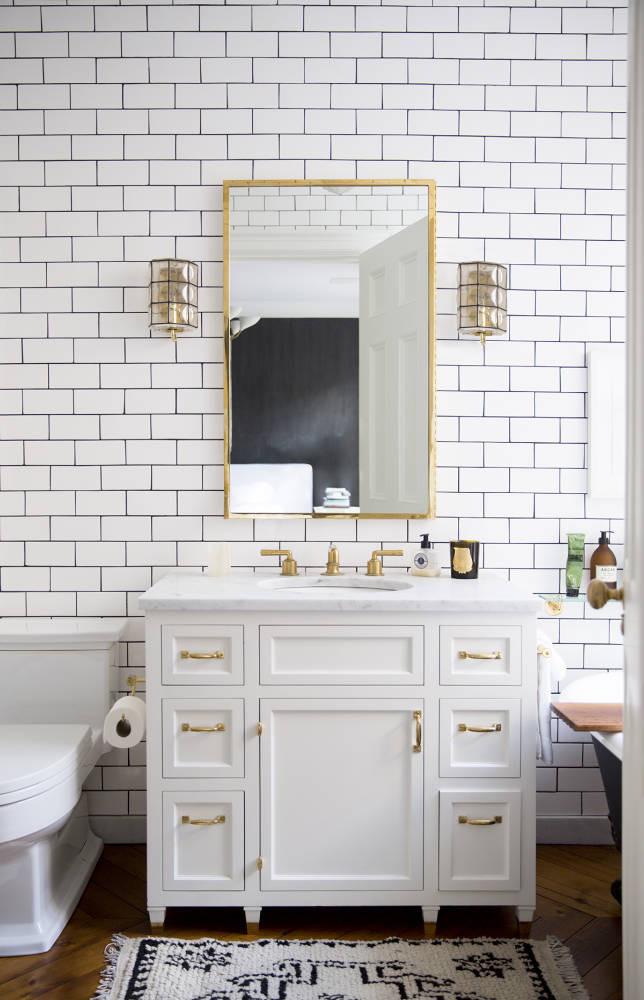 Subway tile bathroom design ideas