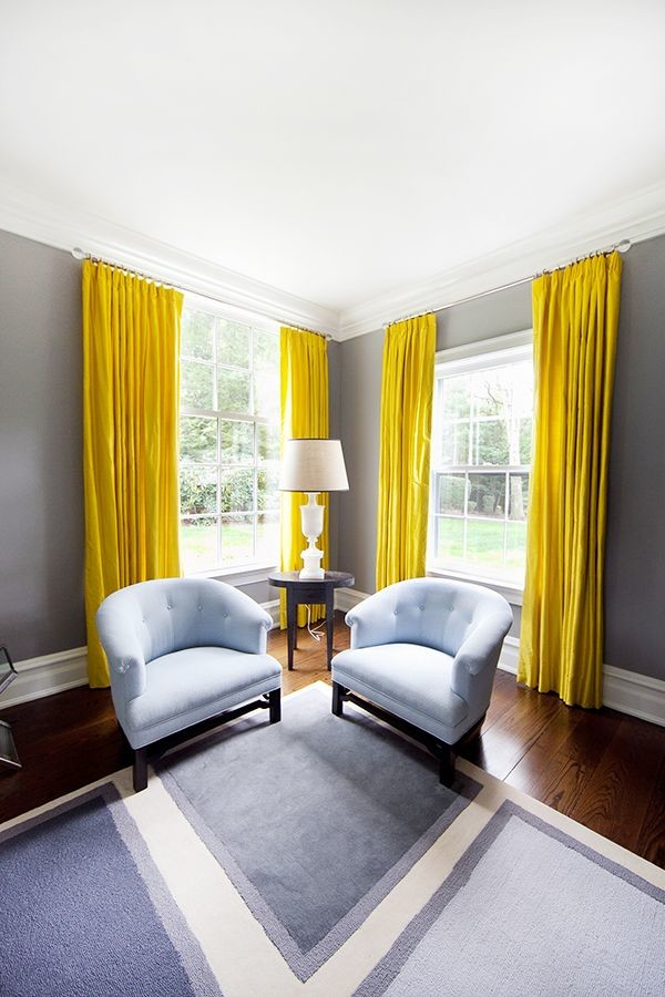 yellow curtains Pop of Color