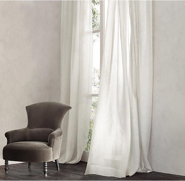 Sheer linen curtains