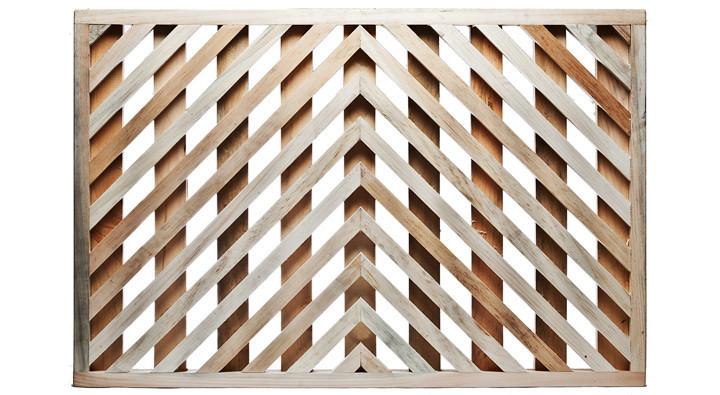Wood chevron door