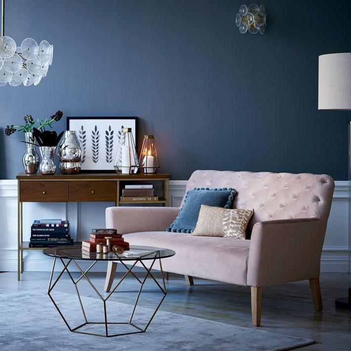 pale pink sofa