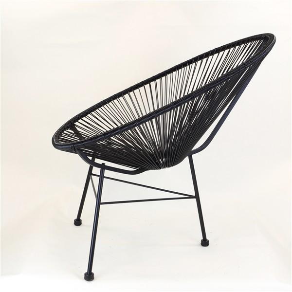 black Acapulco chair