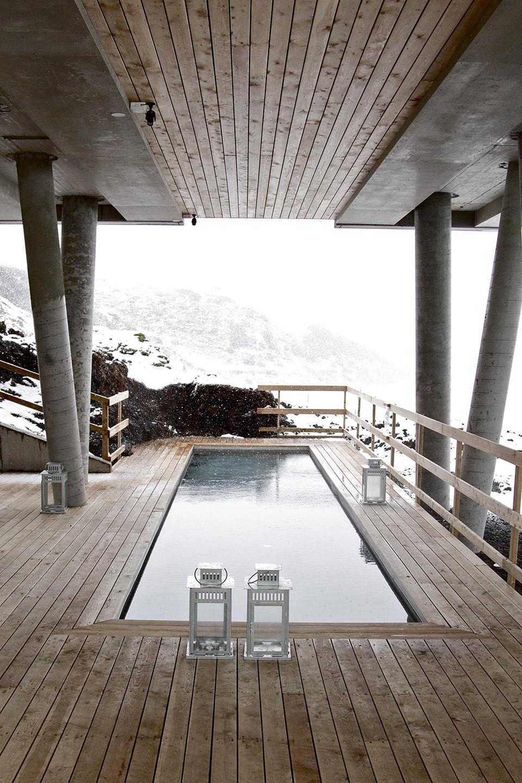 Interior design of the pool spa