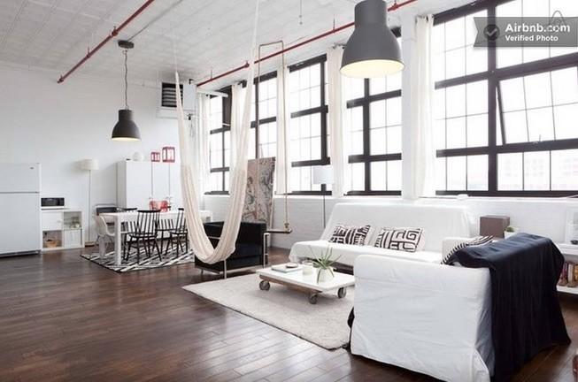 Loft living room interior