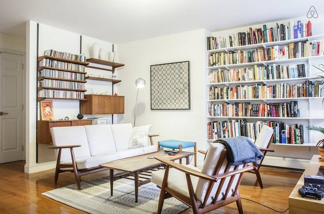 Mid century living room interior