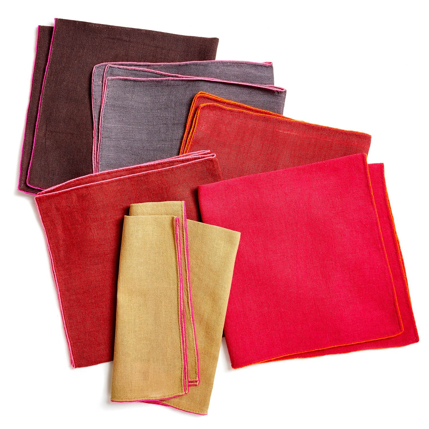 colorful linen napkins