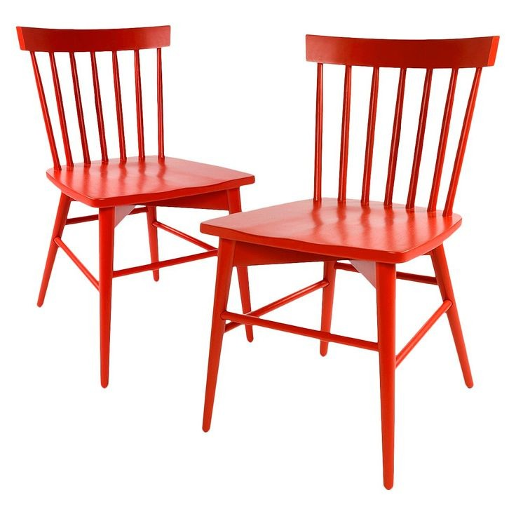 red lacquered Windsor chair