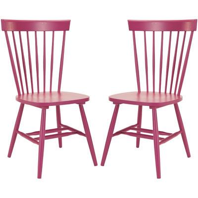 modern pink Windsor chair