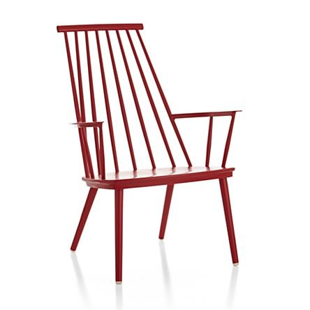 minimalistic red Windsor chair