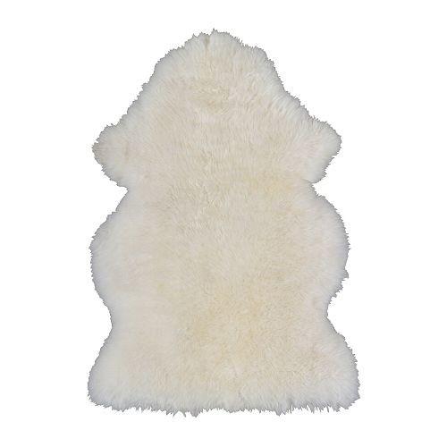 Ikea white sheepskin rug