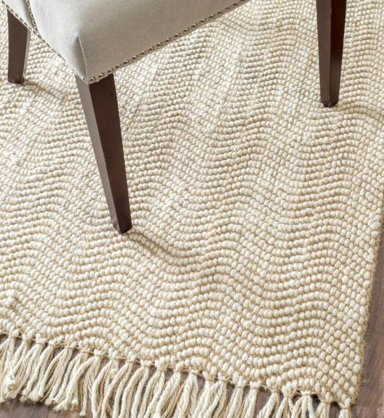 white sisal rug with fringes