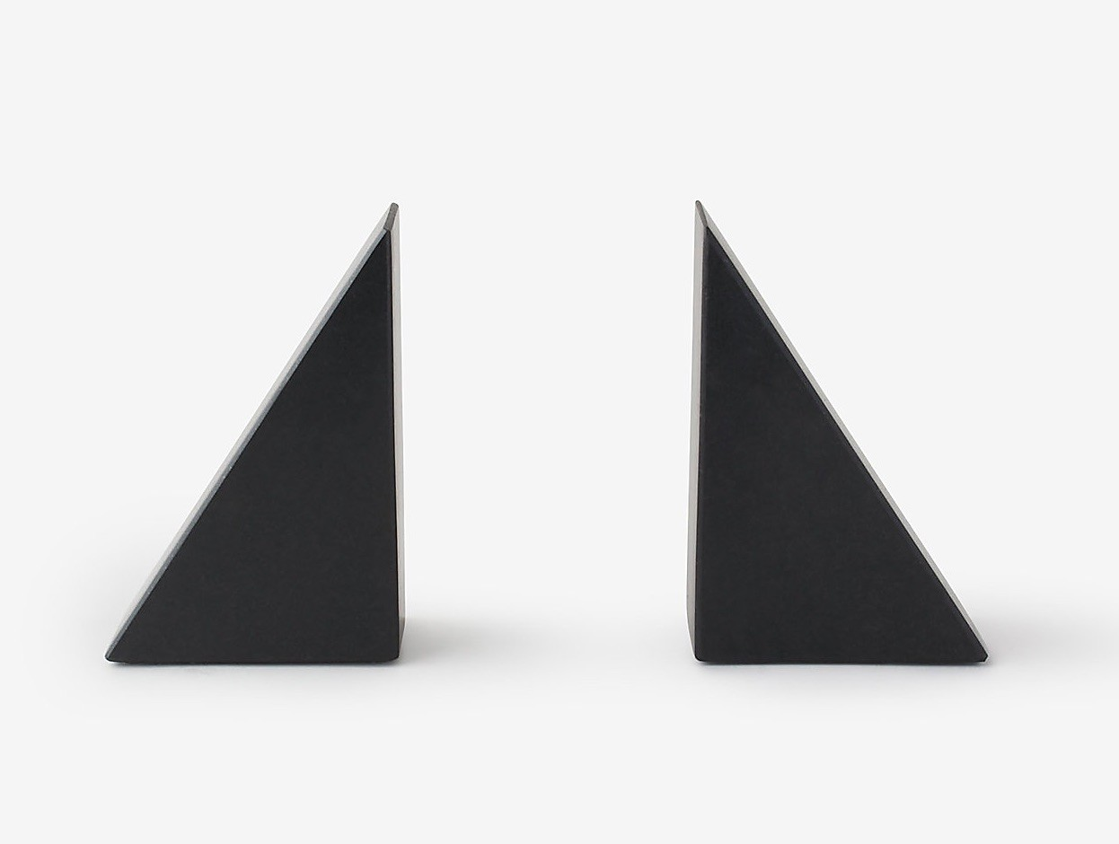Black granite bookends