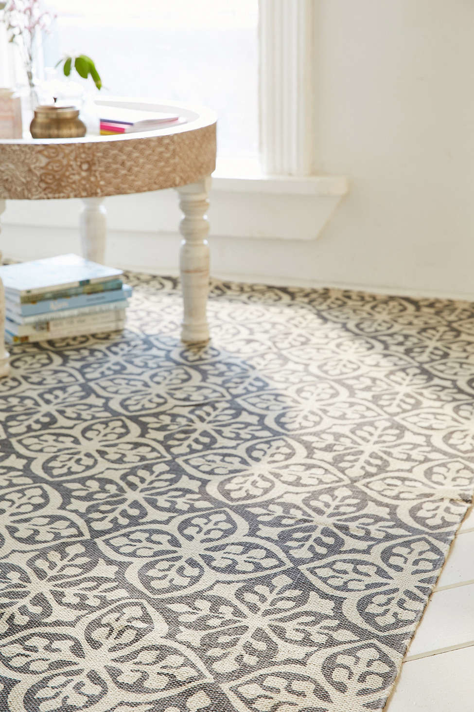 Moroccan pattern tile floor