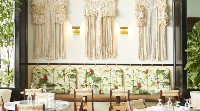 tropical inspired cafe design