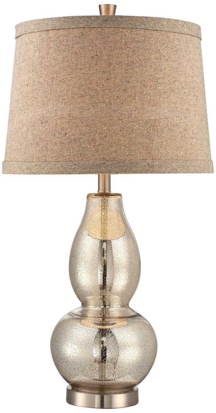 golden mercury glass pumpkin lamp