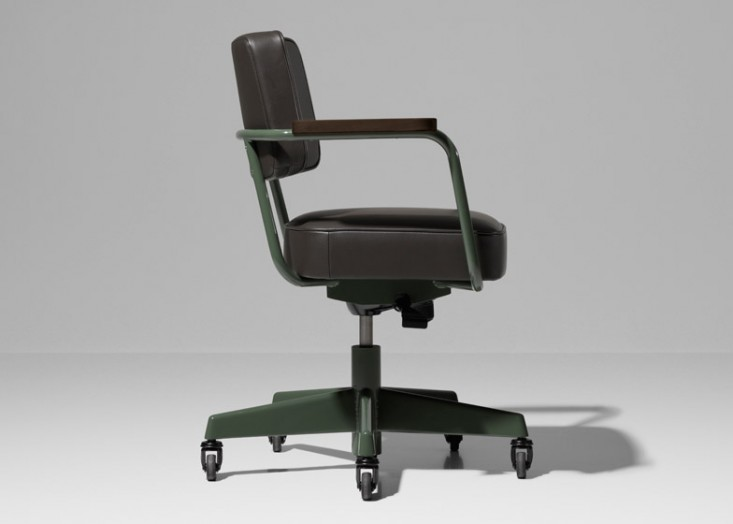 Jean Prouve desk chair on wheels