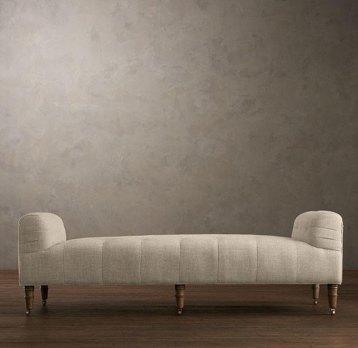 white padded lounger
