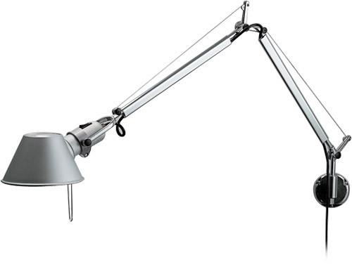 Nickel wall bedside lamp