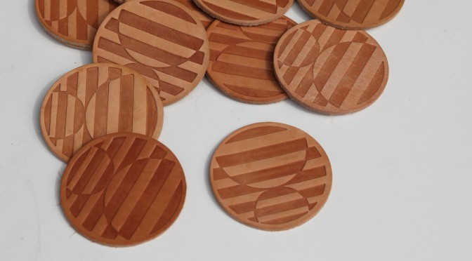 Coasters made of leather