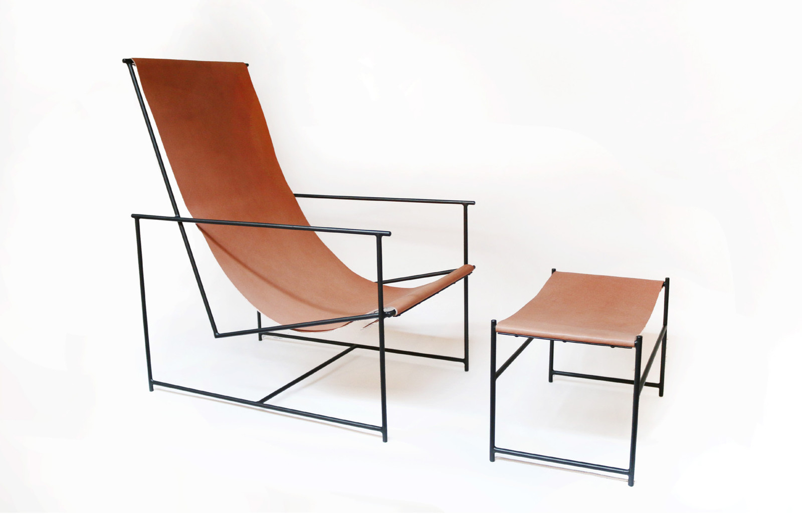 Leather ejection chair and ottoman