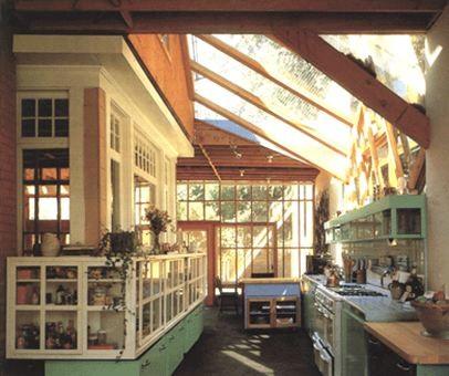 sunny skylight kitchen design