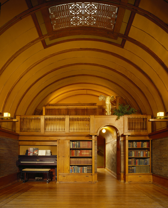 Design of the vaulted ceiling library
