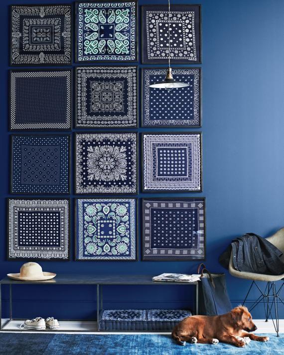 blue bandana wall art
