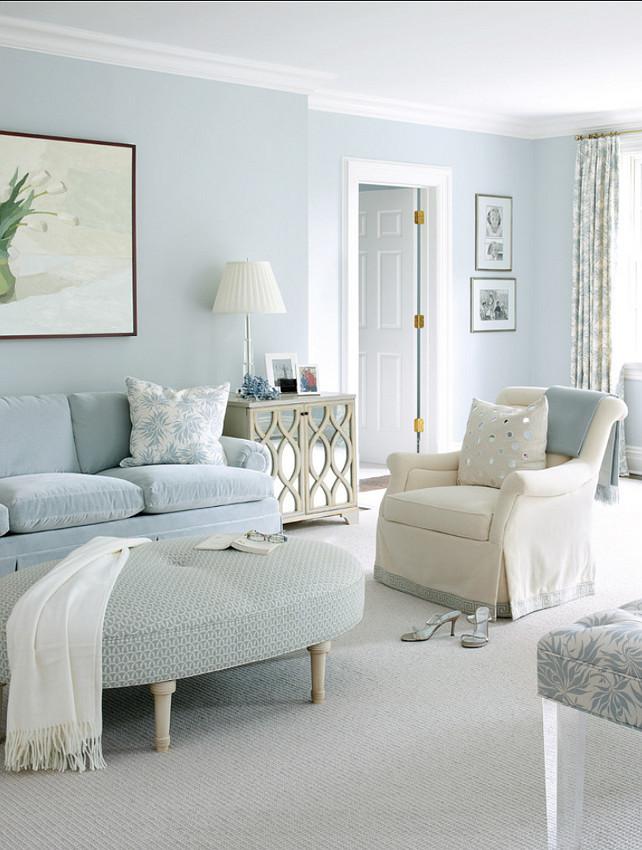 light blue living room design