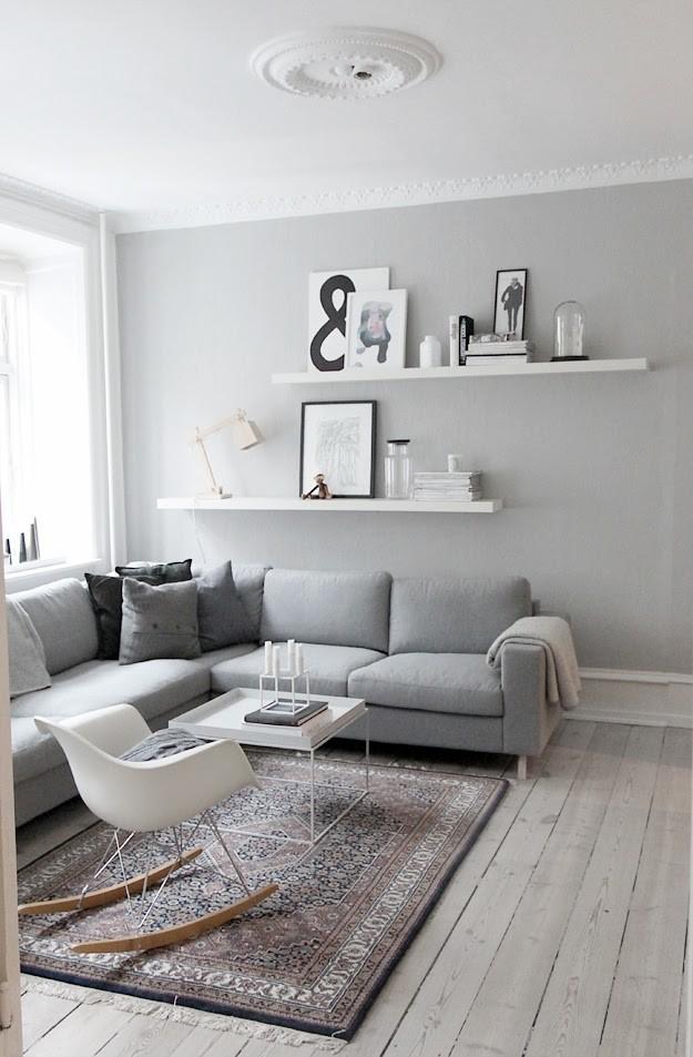 all gray living room interior